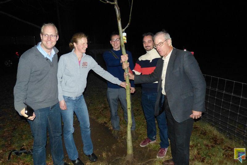 eerste boom voedselbos